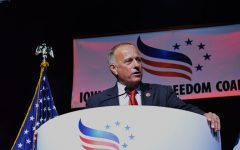 Rep. Steve King, R-Iowa, speaks at the Iowa Faith and Freedom Coalition in Des Moines on Sept. 27, 2014.