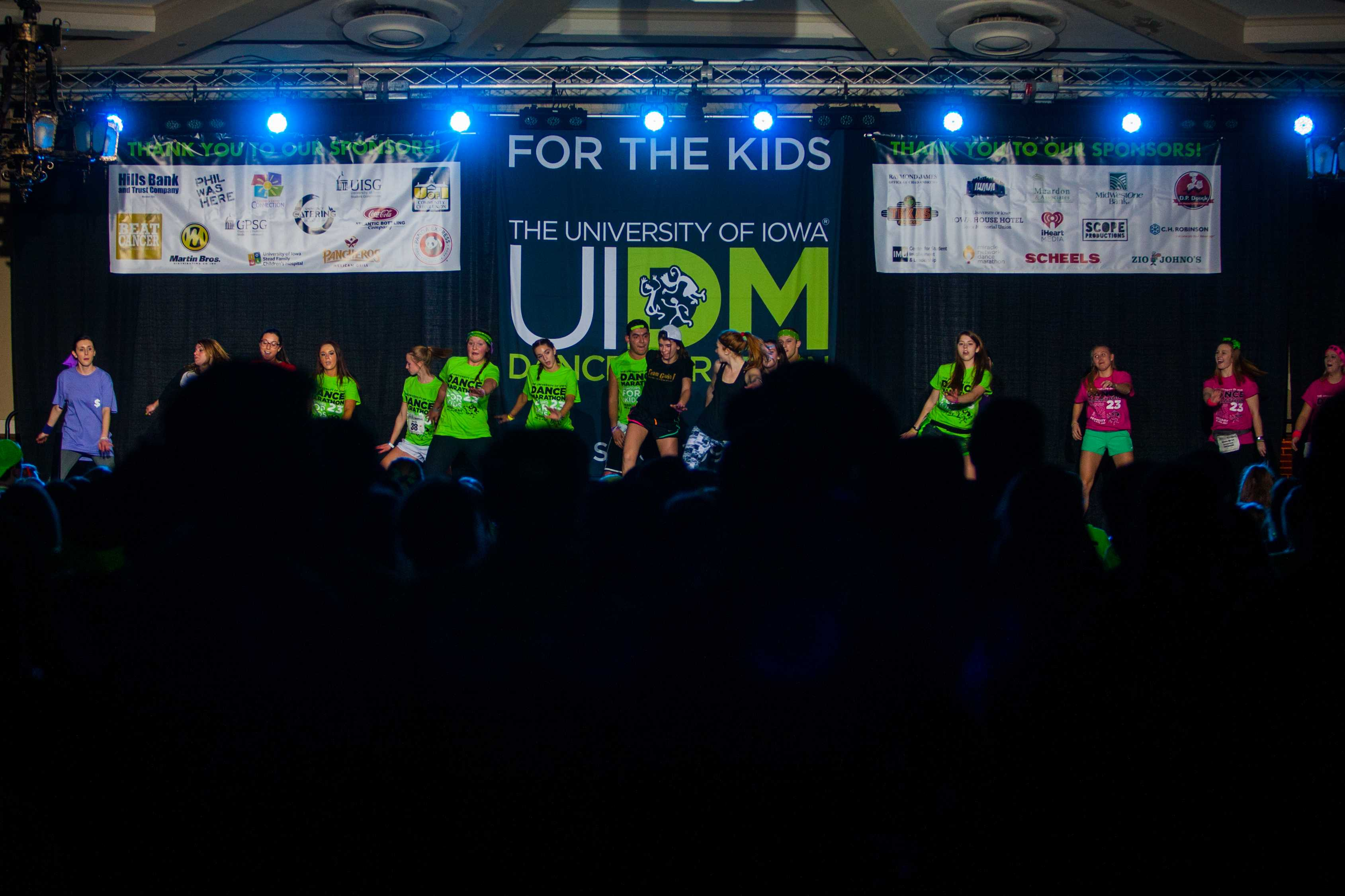 Dancers reach the halfway point of the 23rd Dance Marathon on February 4, 2017.(The Daily Iowan/file)