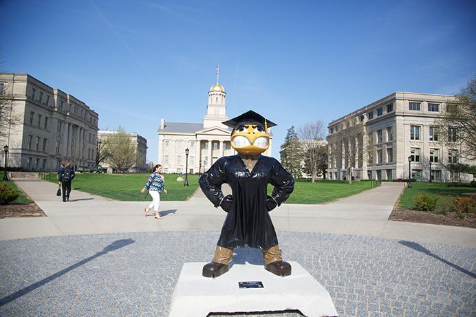 University+of+Iowa+mascot+Herky+the+Hawkeye+goes+back+out+On+Parade+for+the+10th+Anniversary+of+Herky+on+Parade+on+Monday%2C+May+5%2C+2014.+