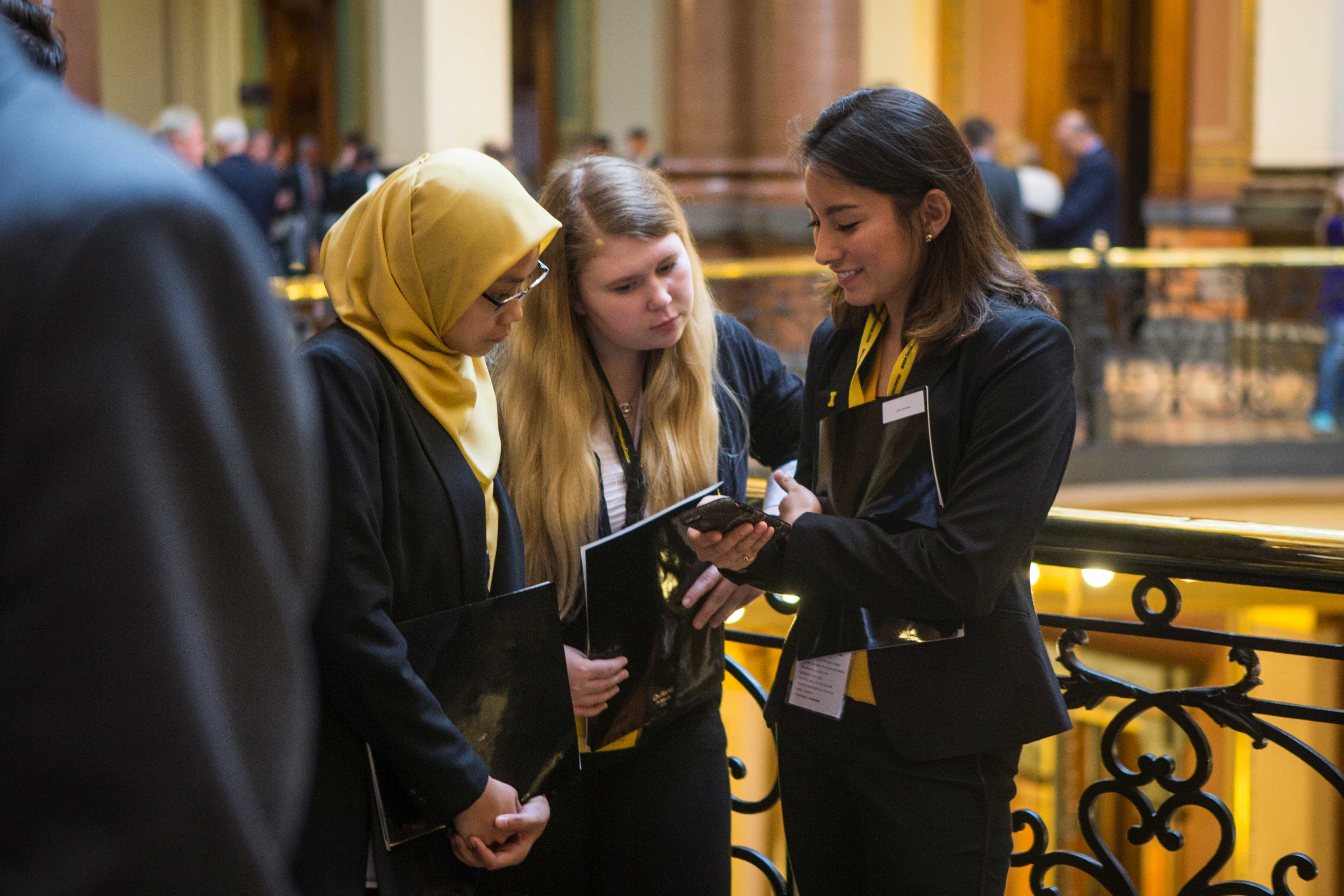 during Hawkeye Caucus at the State Capitol building in Des Moines on Tuesday, Apr. 4, 2017. Hawkeye Caucus is a day to showcase the accomplishments of the University of Iowa community. (The Daily Iowan/Ben Smith)