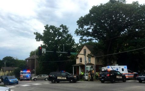 One person transported to hospital after two vehicles collide on Burlington Street