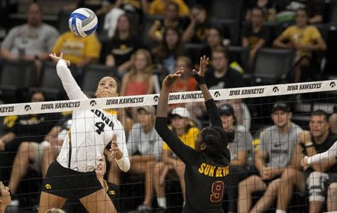 Ex-Hawk volleyball player heads across the seas