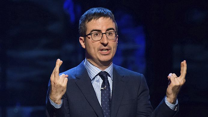 FILE - In this Feb. 28, 2015, file photo, John Oliver speaks in New York. (Photo by Charles Sykes/Invision/AP, File)