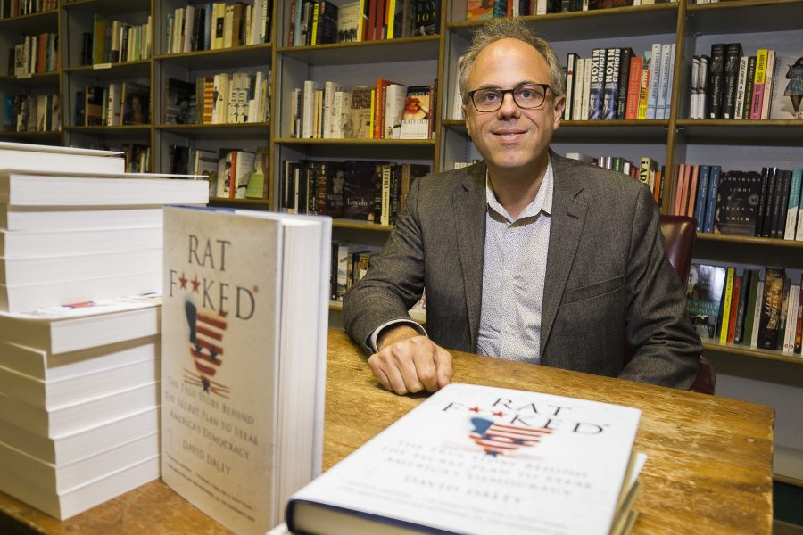 Salons Chief executive editor, David Daley, poses for a photo before a reading of his new book Ratf**d on August 23, 2017. Ratf**d addresses current practices of political redestricting as a severe problem that undermines American democracy. (James Year/Daily Iowan