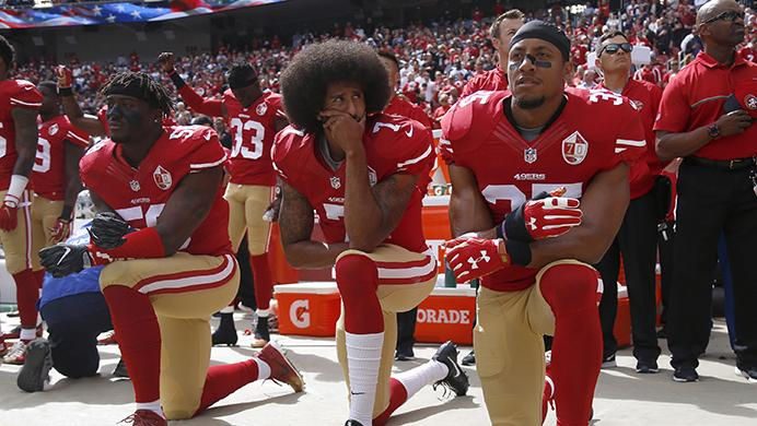 From+left%2C+San+Francisco+49ers%26apos%3B+Eli+Harold+%2858%29%2C+quarterback+Colin+Kaepernick+%287%29+and+Eric+Reid+%2835%29+kneel+during+the+national+anthem+before+their+NFL+game+against+the+Dallas+Cowboys+on+Sunday%2C+Oct.+2%2C+2016+in+Santa+Clara%2C+Calif.+%28Nhat+V.+Meyer%2FBay+Area+News+Group%2FTNS%29