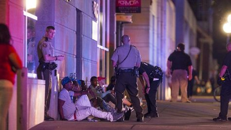 Police respond to a call of shots fired on the Ped Mall on Sunday, Aug. 27, 2017. An initial call came in around 1:30 a.m. where officers immediately responded. On Wednesday, Aug. 30, 2017, a release announced the death of one victim and charges of the two shooters. (Joseph Cress/The Daily Iowan)