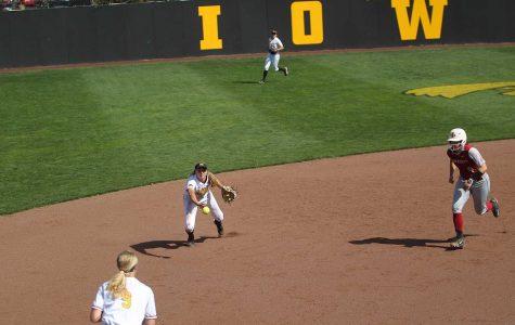 Iowa softball ties with Iowa State