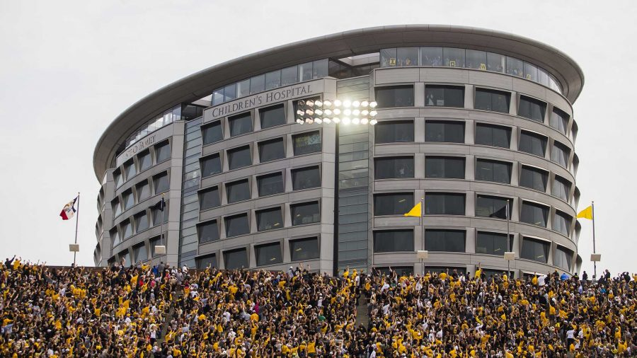 Iowa+fans+wave+to+kids+in+the+Stead+Family+Children%27s+Hospital+during+an+NCAA+football+game+between+Iowa+and+Wyoming+in+Kinnick+Stadium+on+Saturday%2C+Sept.+2%2C+2017.+The+Stead+Family+Children%27s+hospital+has+an+observation+floor+where+families+can+go+to+watch+games+in+Kinnick+with+a+skybox-style+view.+%28Joseph+Cress%2FThe+Daily+Iowan%29