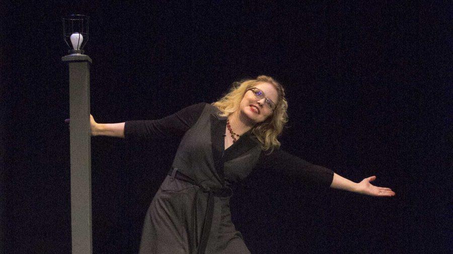 Megan Gogerty performs in