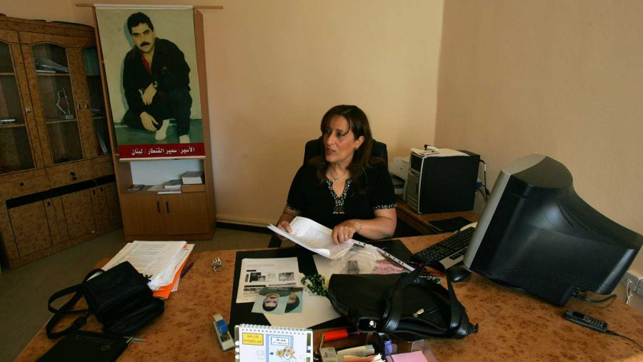 Buthainah Dugmag, attorney for Samir Kuntar, in her office in Rammallah on the West Bank. (Mohammed Bardou/MCT)