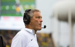 Iowa Head Coach Kirk Ferentz during the Iowa/Illinois football game on Saturday, 7 Oct. 2017. Iowa won the game 45-16.