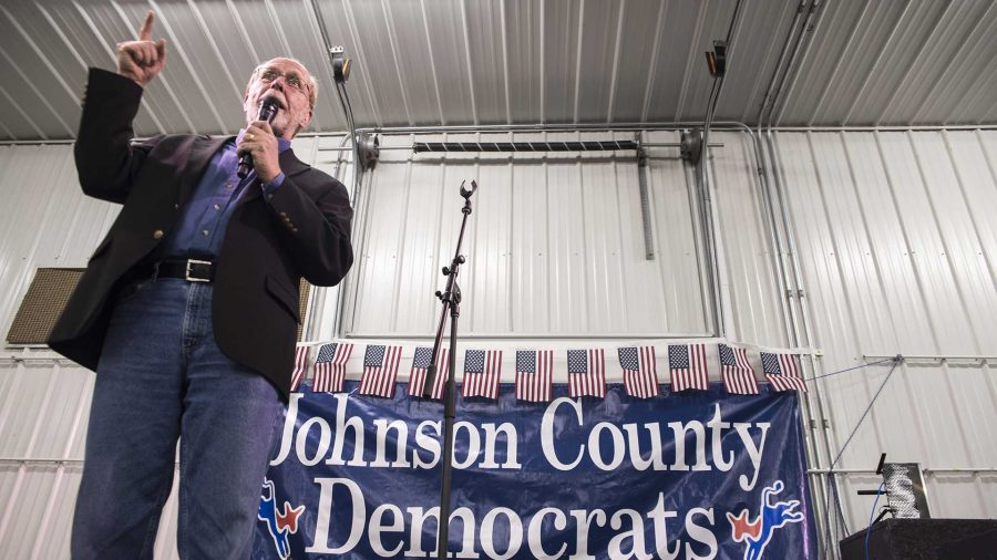 Rep.+Dave+Loebsack%2C+D-Iowa%2C+speaks+during+the+Johnson+County+Democrats+Barbecue+at+the+Johnson+County+Fairgrounds+on+Sunday.+Numerous+gubernatorial+candidates+attended+and+spoke+at+the+event.+%28Ben+Smith%2FThe+Daily+Iowan%29