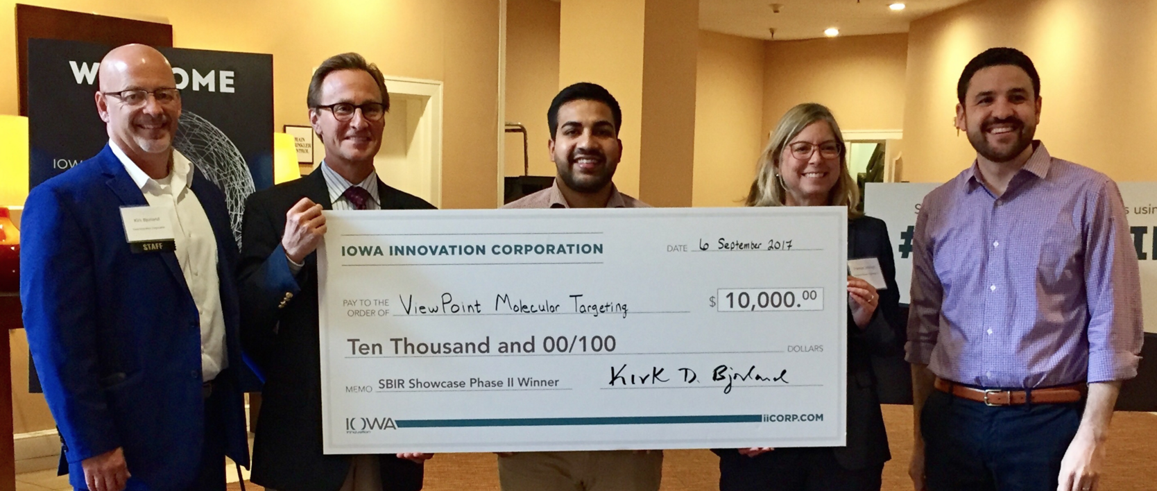 Viewpoint Wins the Iowa SBIR Showcase Phase II Pitch Competition. Photo: viewpointmt.com