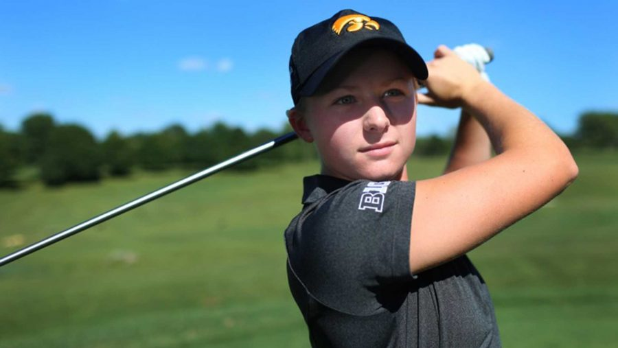 Iowa golfer Morgan Kukla poses for a photo during media day at Finkbine on Tuesday, Aug. 25, 2015. Iowa will host their annual Diane Thomason Invitational on Step. 12-13 at Finkbine. (The Daily Iowan/Margaret Kispert)