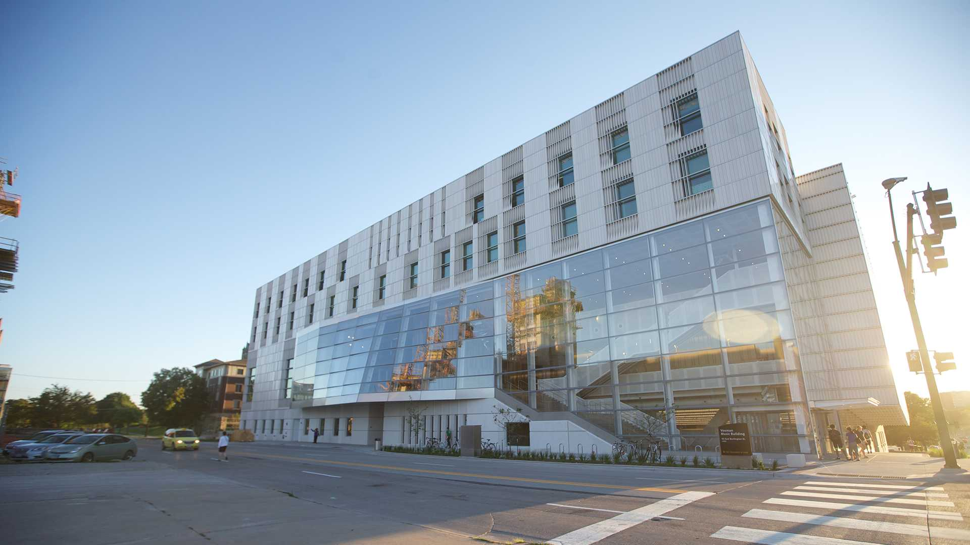 The University of Iowa School of Music is being moved to the newly built Voxman Building. The building is located at 95 East Burlington Street. (The Daily Iowan/File photo)
