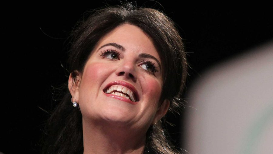 Monica Lewinsky pauses during her speech at the Forbes Under 30 Summit at the Pennsylvania Convention Center in Philadelphia on Monday, Oct. 20, 2014. (David Maialetti/Philadelphia Daily News/MCT)