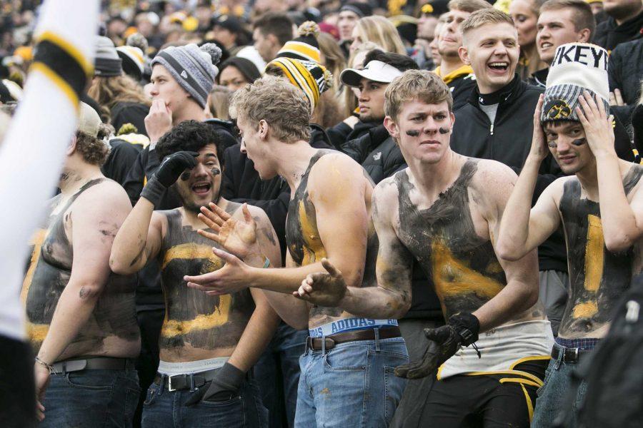 Shirtless+Iowa+fans+cheer+during+the+Iowa%2FOhio+State+football+game+in+Kinnick+Stadium+on+Saturday%2C+Nov.+4%2C+2017.++%28File+Photo%2FThe+Daily+Iowan%29