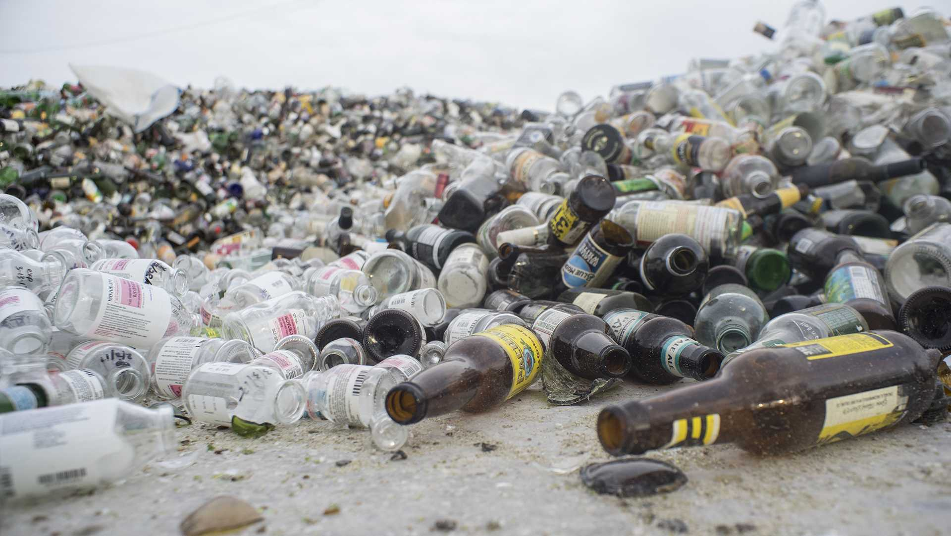 FILE - Thousands of cans and bottles are seen at City Carton Recycling on Thursday, March 23, 2017. HF 575, which has been coined the