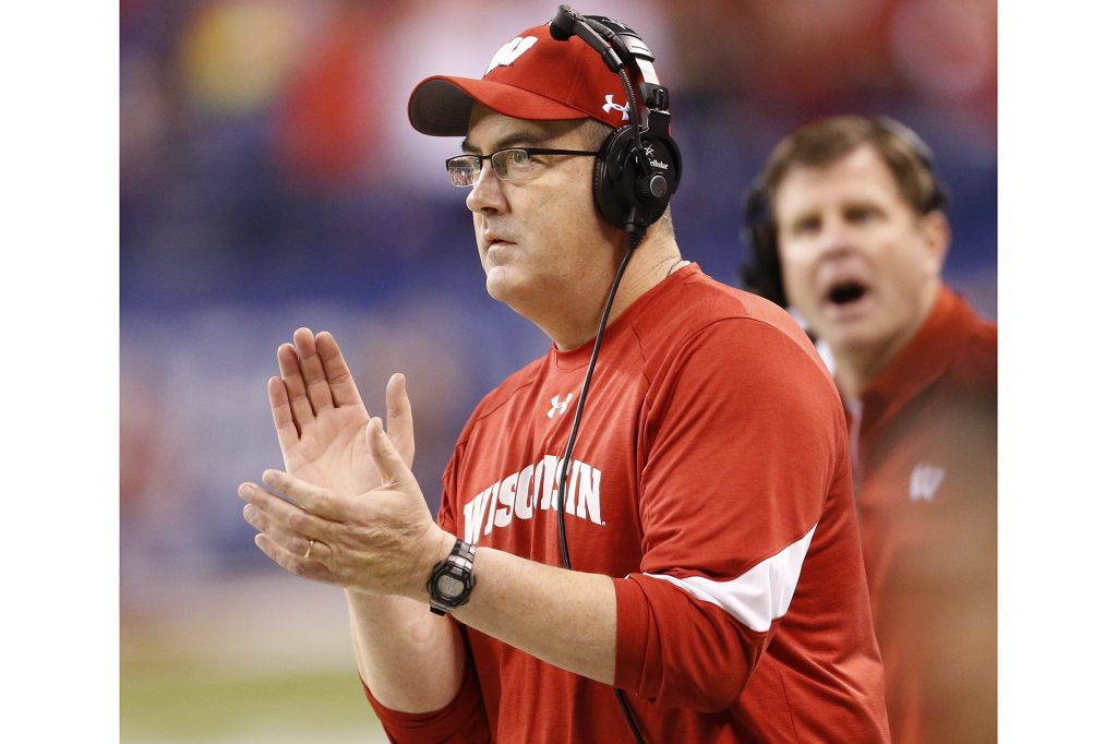 Wisconsin+head+coach+Paul+Chryst+watches+the+action+in+the+first+half+against+Penn+State+during+the+Big+Ten+championship+at+Lucas+Oil+Stadium+in+Indianapolis+on+December+3%2C+2016.+%28Sam+Riche%2FTNS%29