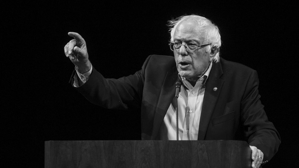 Bernie Sanders speaks at Hancher Auditorium on Thursday, August 31, 2017. Sanders spoke at Hancher during a tour to promote his new book: Bernie Sanders Guide to Political Revolution. (Nick Rohlman/The Daily Iowan)