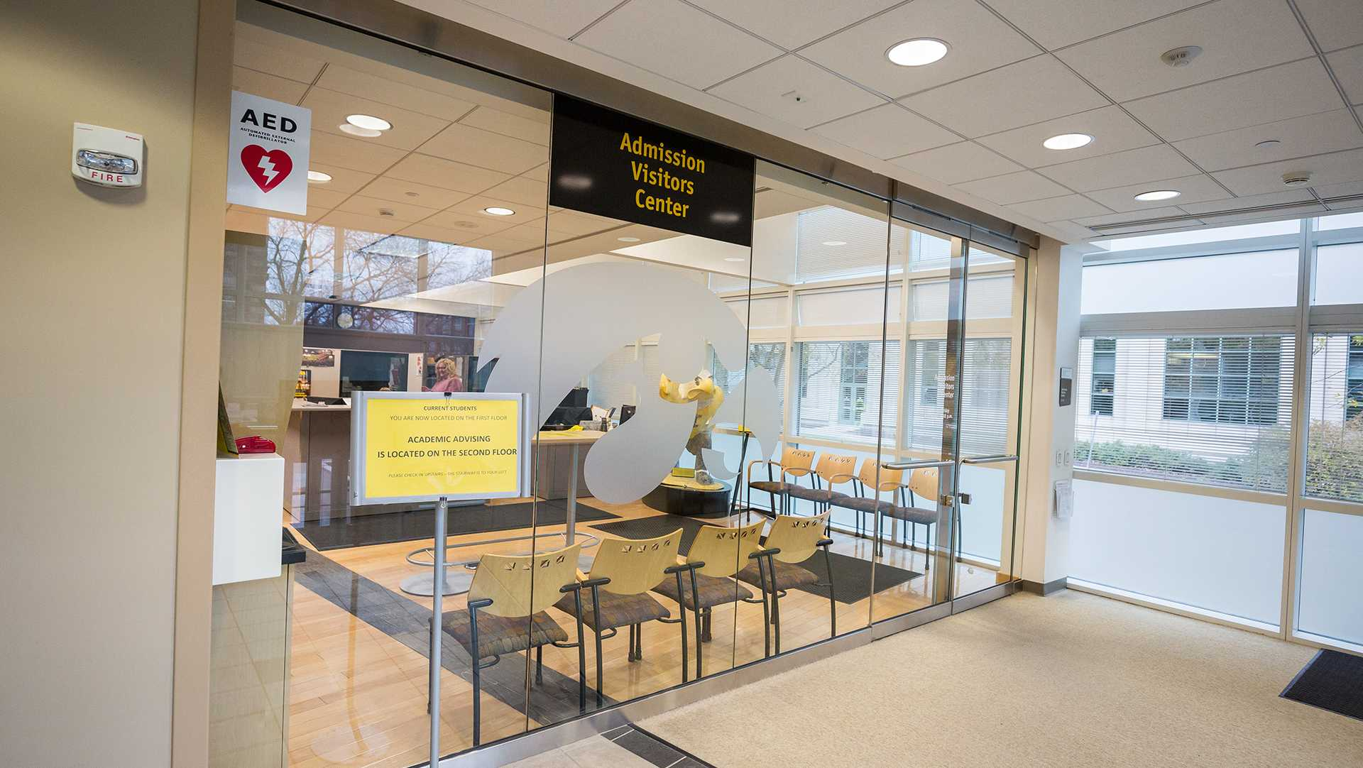 The University of Iowa's Admissions Visitor's Center, inside the Pomerantz Center building, on Monday, Oct. 30, 2017 (David Harmantas/The Daily Iowan)