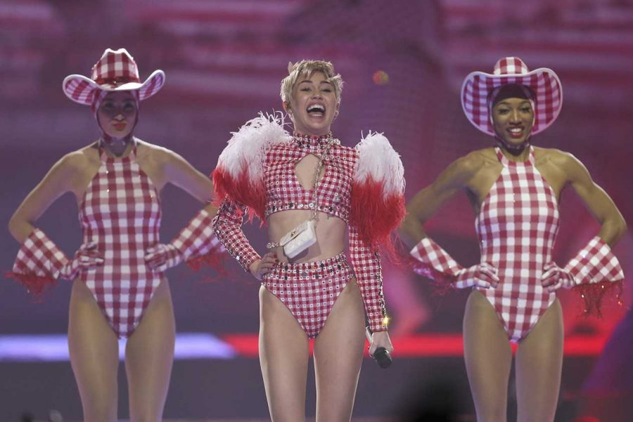 Miley Cyrus performs at the Xcel Energy Center in St. Paul, Minn., on Monday, March 10, 2014. (Jeff Wheeler/Minneapolis Star Tribune/MCT)