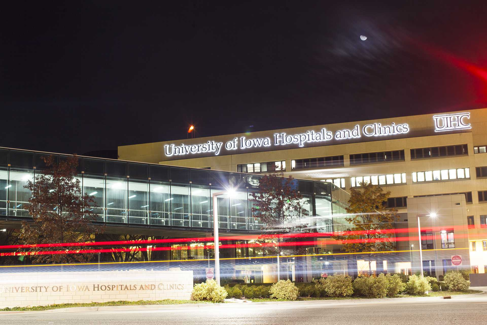 The UI Hospitals and Clinics is seen from the west on Wednesday, Nov. 9, 2017. A $1.3 million grant will help UI practicum students provide counseling services in rural areas across Iowa for the next four years. (Joseph Cress/The Daily Iowan)