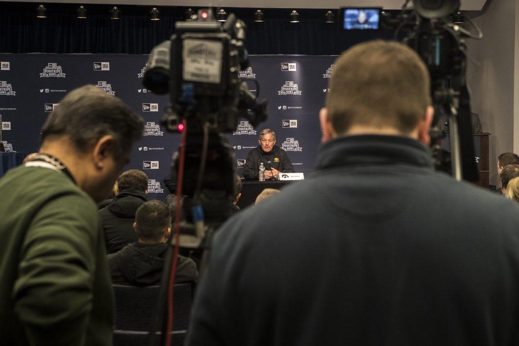 Boston+College+head+coach+Steve+Addazio+and+Iowa+head+coach+Kirk+Ferentz+held+a+press+conference+at+Yankee+Stadium+in+New+York+City+on+Tuesday%2C+Dec.+26%2C+2017.+%28Ben+Allan+Smith%2FThe+Daily+Iowan%29