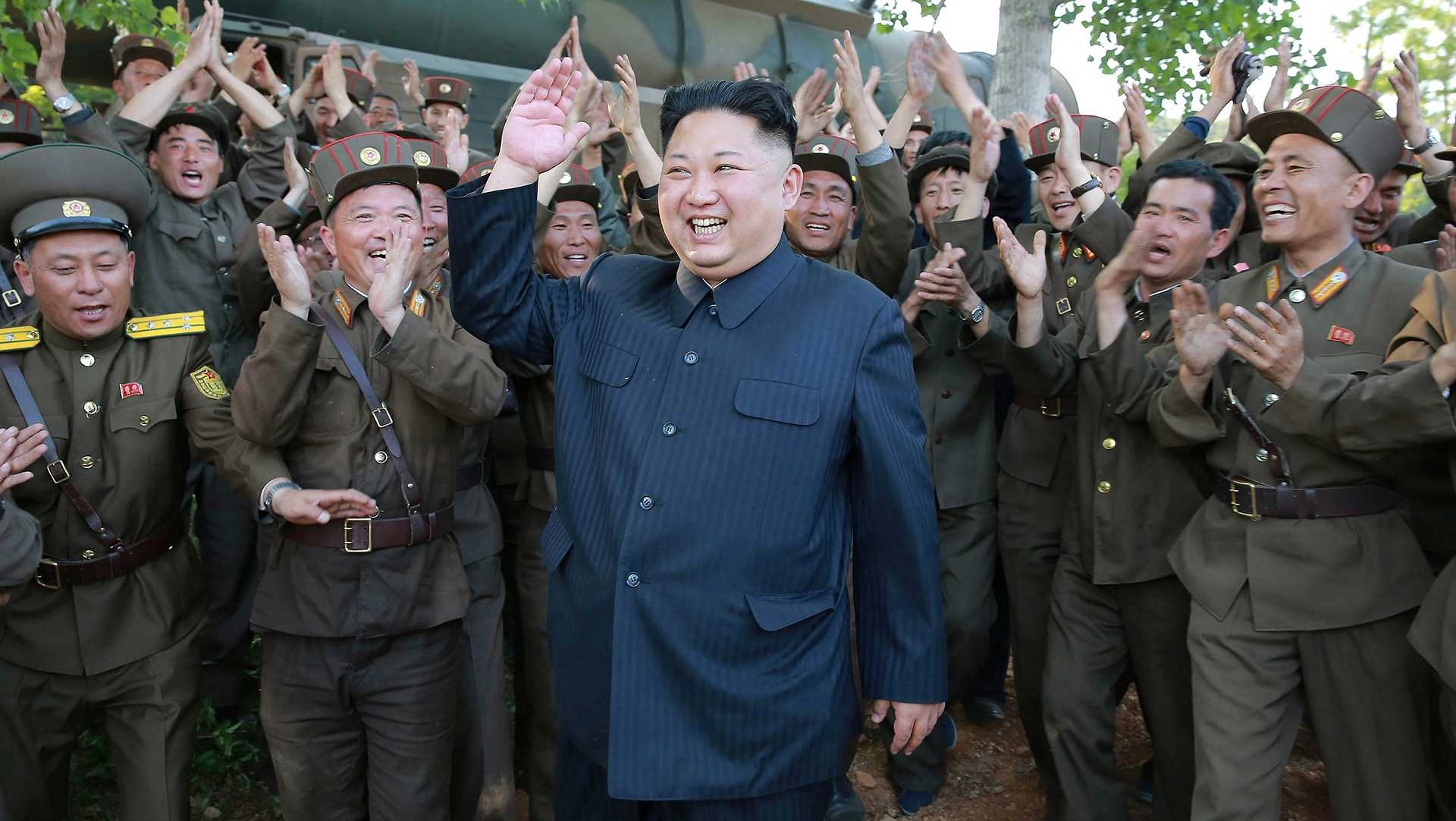 Undated photo from North Korean News Agency shows North Korean leader Kim Jong-un visiting a Korean People & Army unit, in an undisclosed location, North Korea. Photo released August 2017. (Balkis Press/Abaca Press/TNS)