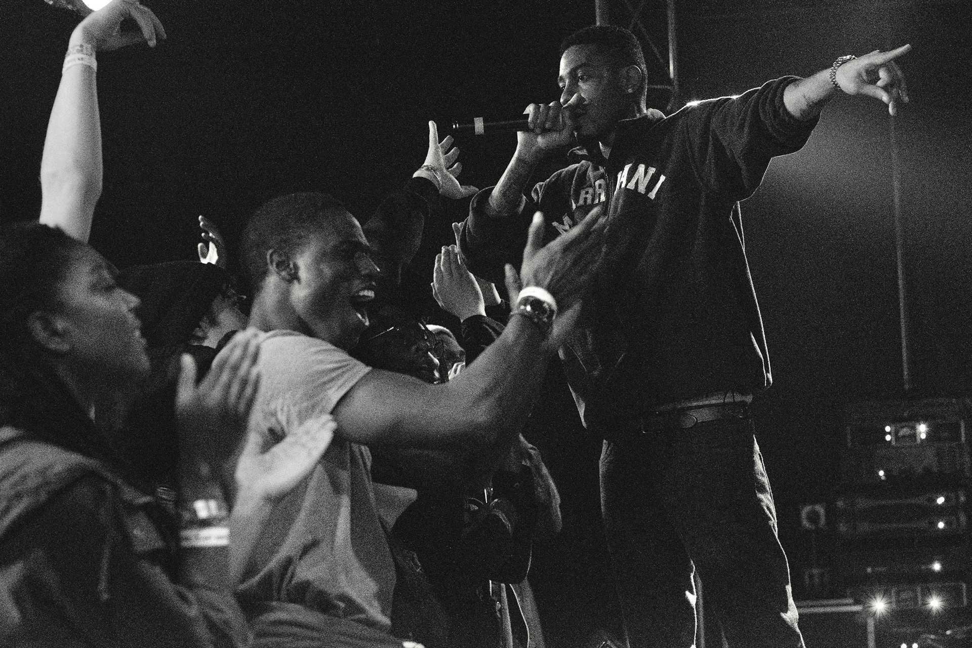 Sir Michael Rocks of The Cool Kids Performs at Blue Moose on Friday April 7th, 2017. The Cool Kids reunited in July 2016 after a hiatus beginning in 2012. (The Daily Iowan/Nick Rohlman)