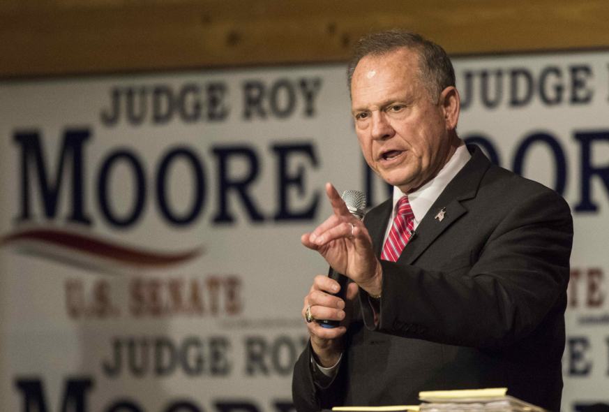 Judge+Roy+Moore%2C+the+Republican+nominee+for+Senate+in+Alabama%2C+speaks+at+a+campaign+event+in+Fairhope%2C+Alabama%2C+on+Dec.+5%2C+one+week+before+the+special+Senate+election.+%28Dan+Anderson%2FZuma+Press%2FTNS%29+