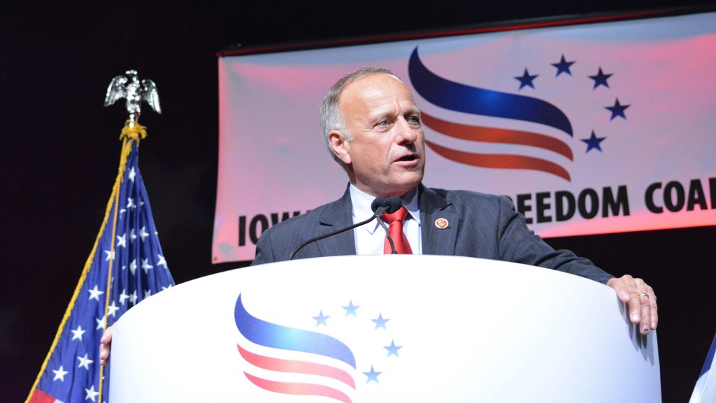 Congressman Steve King speaks at the Iowa Faith and Freedom Coalition in Des Moines on Saturday, Sept. 27, 2014. Iowa Faith and Freedom Coalition is a dedicated to educating the public and training Christians for effective political action. (The Daily Iowan/Margaret Kispert)