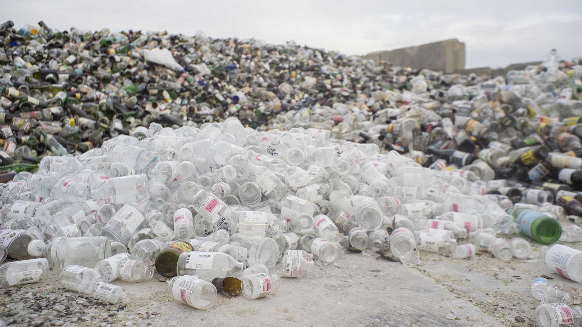 Thousands of cans and bottles are seen at City Carton Recycling on Thursday, March 23, 2017. HF 575, which has been coined the