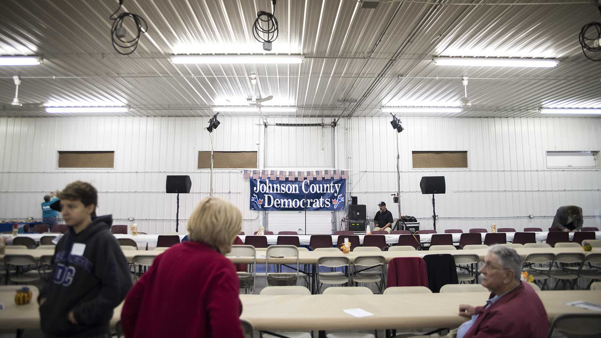 Johnson County Democrats held a barbecue at the Johnson County Fairgrounds on Sunday, Oct. 15, 2017. Multiple gubernatorial candidates spoke at the event as well as guest speaker Rep. Dave Loebsack, D-Iowa. (Ben Smith/The Daily Iowan)