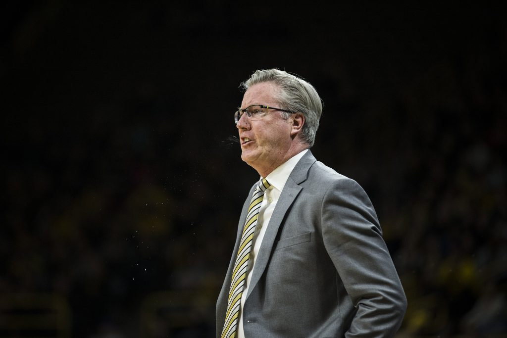 Iowa+head+coach+Fran+McCaffery+reacts+to+a+call+by+the+referee+during+the+NCAA+basketball+game+between+Iowa+and+Michigan+at+Carver-Hawkeye+Arena+on+Tuesday%2C+Jan.+2%2C+2017.+The+Hawkeyes+fell+to+the+Wolverines+75-68.+%28Ben+Allan+Smith%2FThe+Daily+Iowan%29