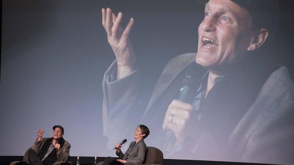 Woody Harrelson visits the IMU on Thursday, Jan. 25 to speak about his new movie Lost in London which premiered earlier this month. This is the first live screening of the film in the U.S. (Ben Allan Smith/The Daily Iowan)