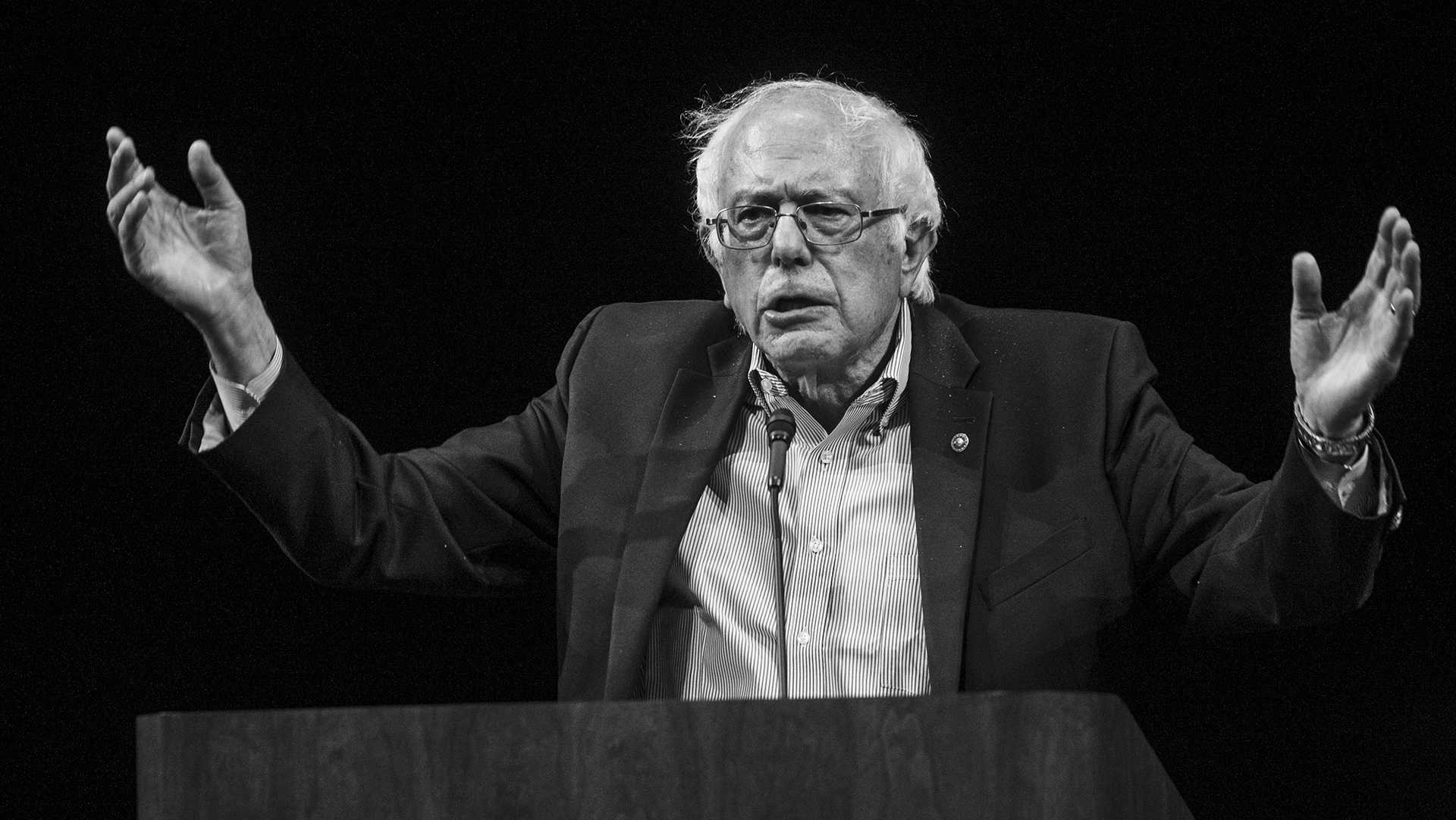 Bernie Sanders speaks at Hancher Auditorium on Thursday August 31, 2017. Sanders spoke at Hancher during a tour to promote the book. (Nick Rohlman/The Daily Iowan)