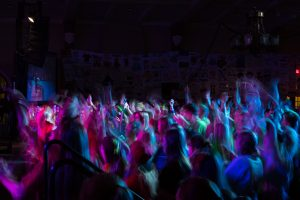 Participants dance at the 24th Annual Dance Marathon put on by the University of Iowa on Saturday, Feb. 3, 2018. (Matthew Finley/The Daily Iowan)