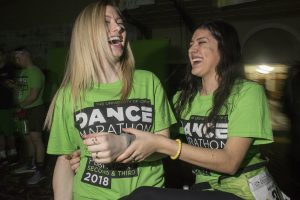 Participants have fun during Dance Marathon in the Iowa Memorial Union on Friday, Feb. 2, 2018. (James Year/The Daily Iowan)