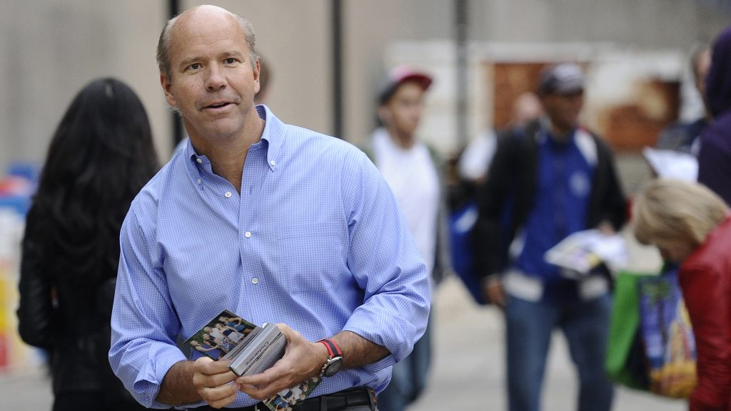 Congressman+John+Delaney+campaigns+at+the+Shady+Grove+Metro+station+in+a+file+image+from+2014.+Delaney+is+running+for+president%2C+but+polling+at+zero.+%28Kim+Hairston%2FBaltimore+Sun%2FTNS%29