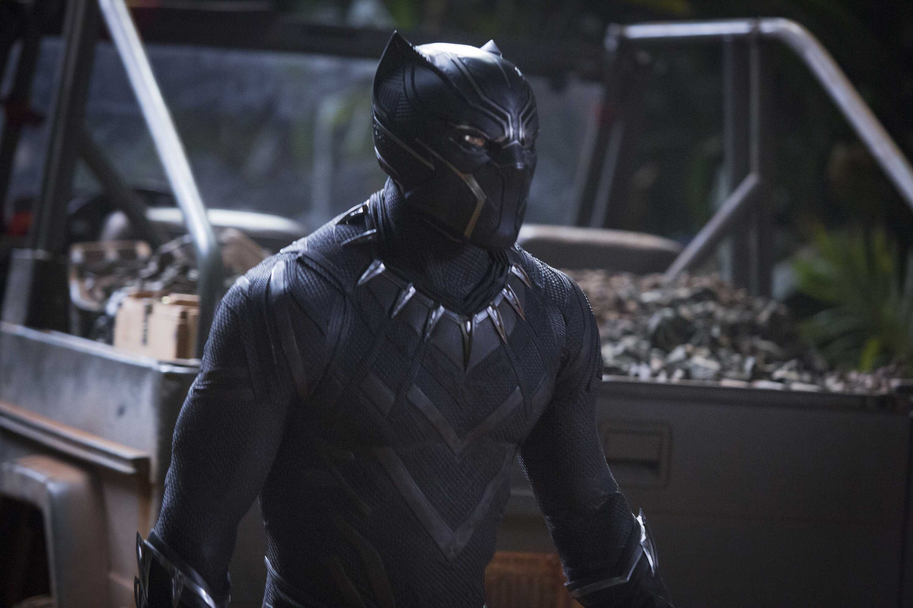 "Chadwick Boseman in the film, ""Black Panther."" (Matt Kennedy/Marvel Studios)"