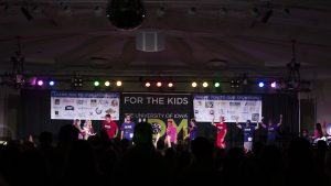 Participants compete in The Man Pageant underway at Dance Marathon in the Iowa Memorial Union on Friday, Feb. 2, 2018. (Shivansh Ahuja/The Daily Iowan)