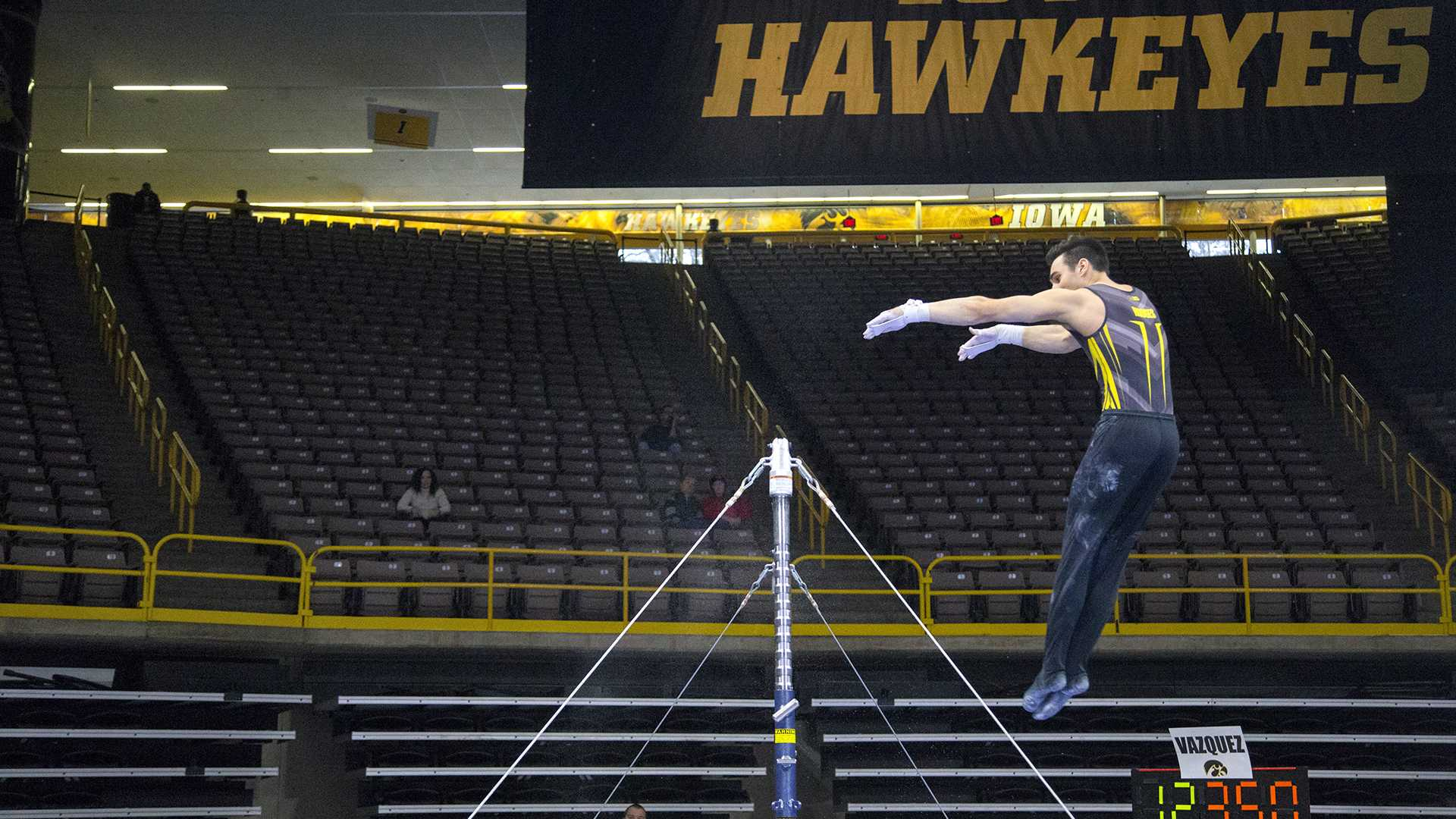 The Fighting Illini take both Iowa gymnastics teams