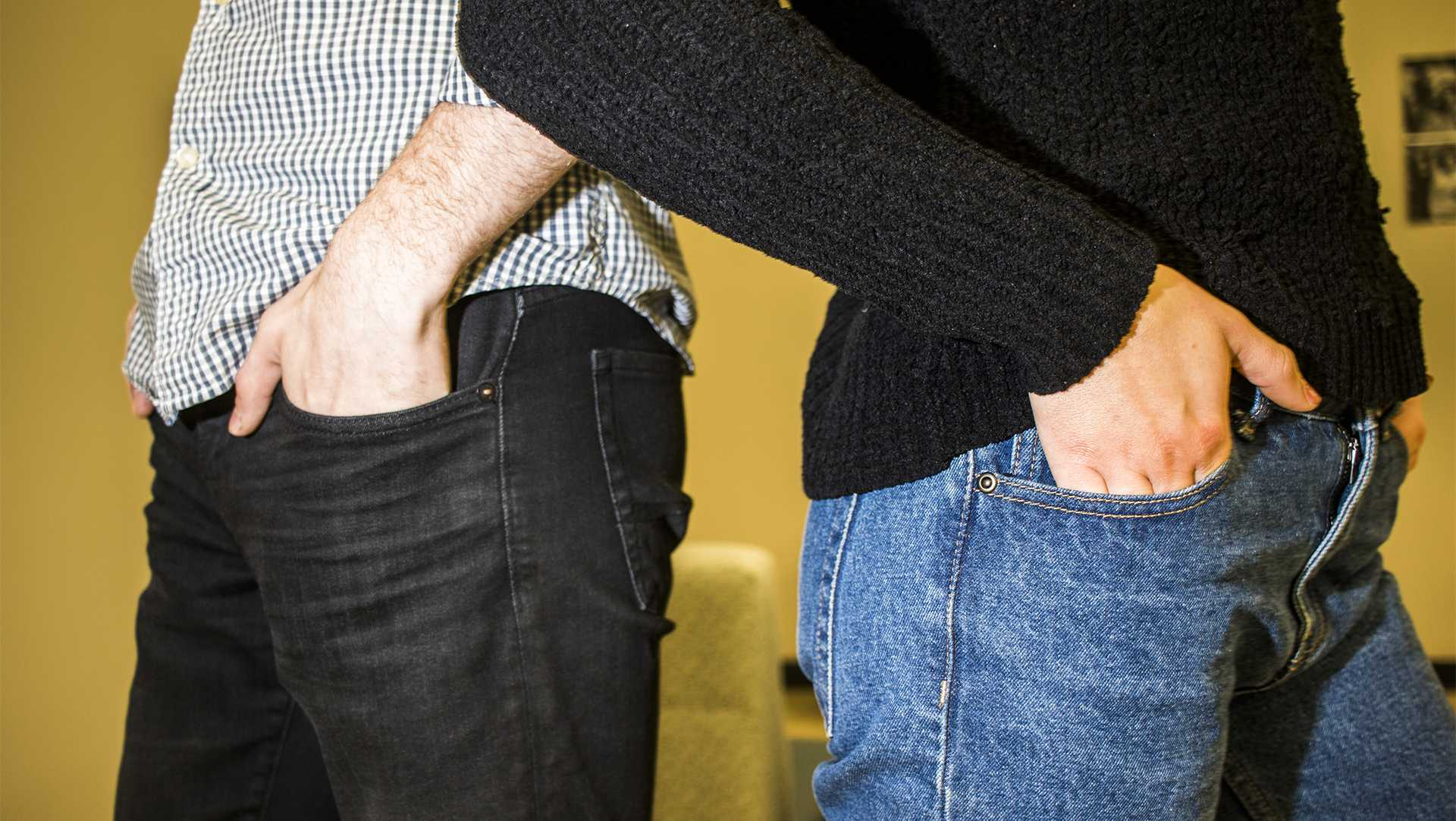 In this photo illustration, pants pockets are seen on Thursday, Feb. 22, 2018. (Lily Smith/The Daily Iowan)