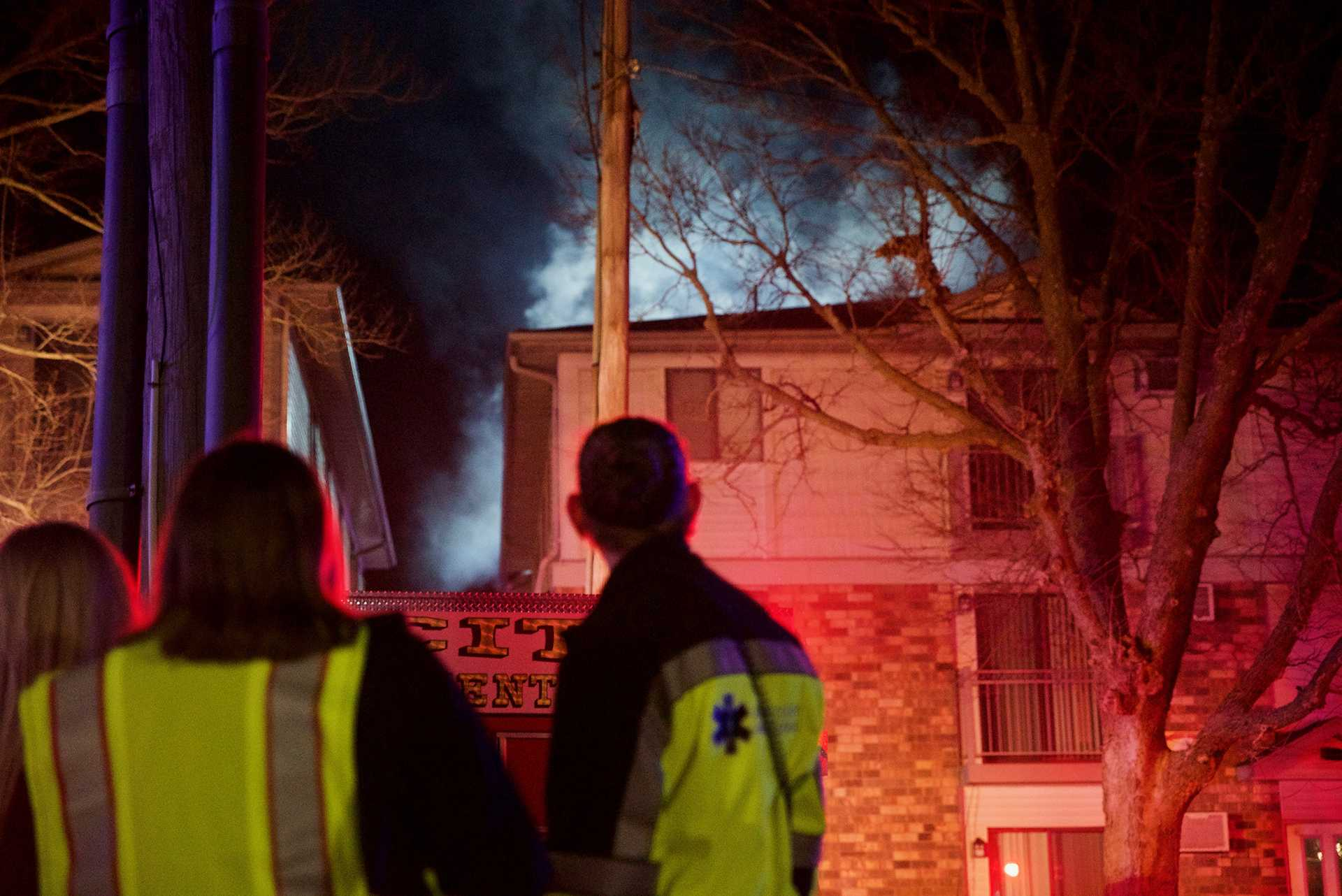 Iowa City apartment goes up in flames