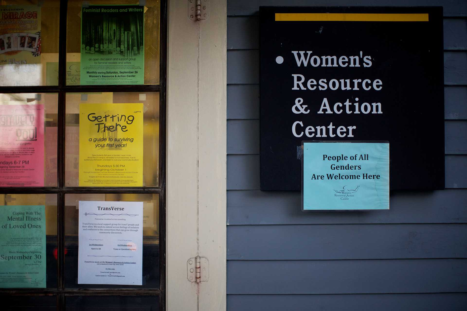 People of all genders are welcome at the Women's Resource and Action Center, Dec 3, 2015. The Women's Resource & Action Center will be moving from 130 N Madison St to The Bowman Center on Dubuque and Burlington in January. (The Daily Iowan/ Jordan Gale)