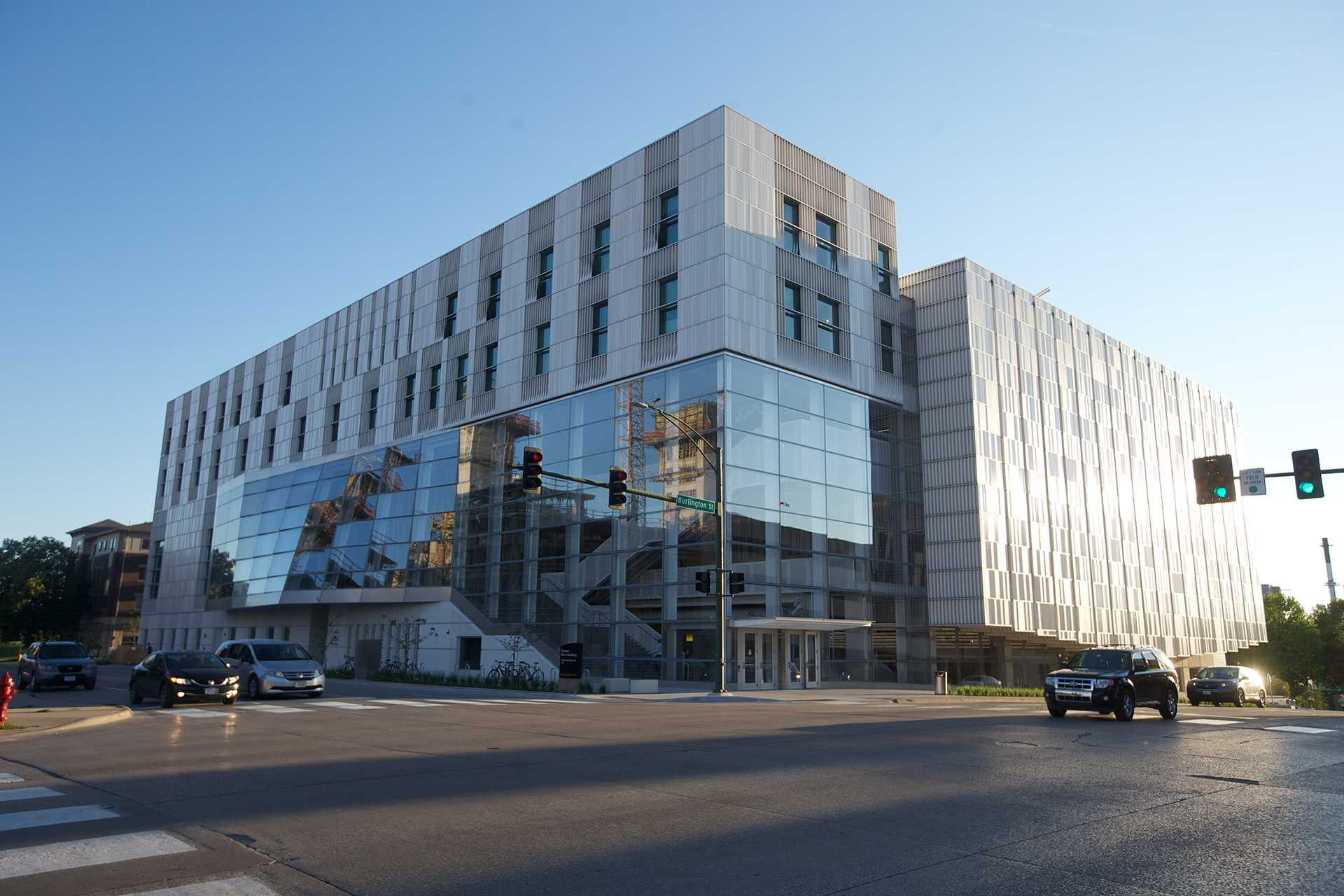 The University of Iowa School of Music is being moved to the newly built Voxman Building. The building is located at 95 East Burlington Street. (The Daily Iowan/Karley FInkel)