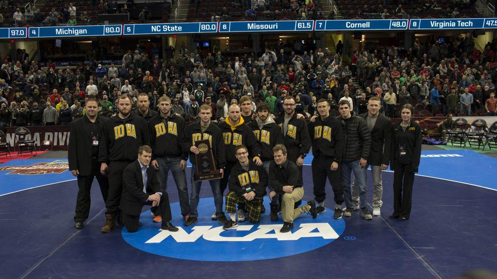 The+Iowa+wrestling+team+takes+third+overall+for+the+NCAA+Division+1+Wrestling+Championships+in+Cleveland%2C+Ohio+on+Saturday%2C+March+17%2C+2018.+%28Ben+Allan+Smith%2FThe+Daily+Iowan%29