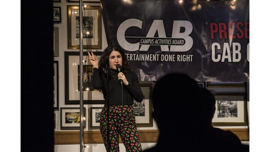 Kate+Berlant+performs+during+the+CAB+comedy+show+on+Sunday%2C+April+29%2C+2018+at+the+IMU.+