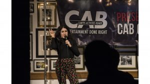 Kate Berlant performs during the CAB comedy show on Sunday, April 29, 2018 at the IMU.